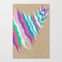rainbow waves Canvas Print