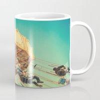 Vintage Chain Swing Ride on Blue Sky  Mug