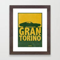 Gran Torino - minimal poster Framed Art Print