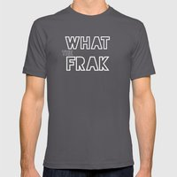 What The Frak Mens Fitted Tee Asphalt SMALL
