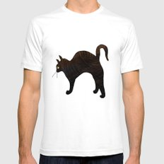 Cat SMALL Mens Fitted Tee White