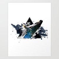 Star Whale Art Print