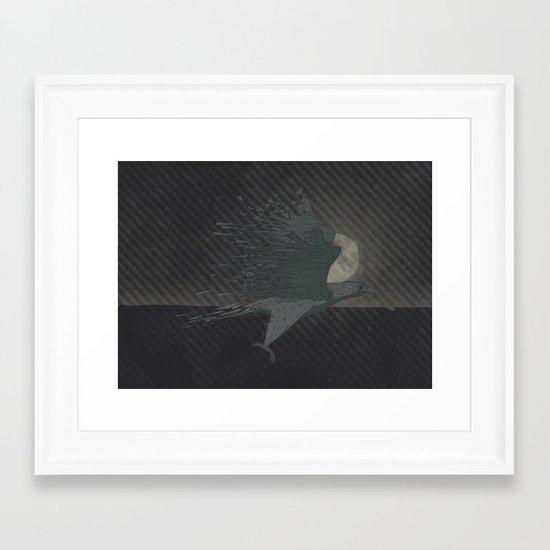 Turbulence at Night Framed Art Print