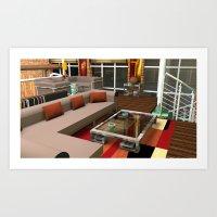 Loft Apartment Theatre R… Art Print