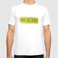 i do techno Mens Fitted Tee White SMALL