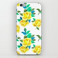 Vintage Roses In Yellow iPhone & iPod Skin