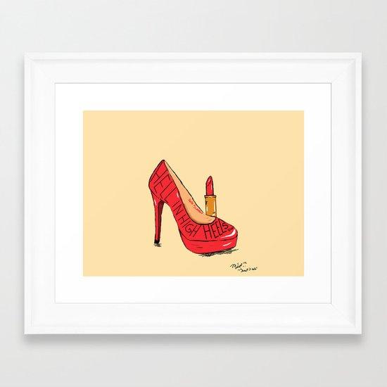 Sweet Heels Framed Art Print