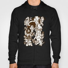 American Traditional Tattoo Collage (Brown) Hoody