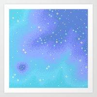 Twilight Nebula (8bit) Art Print