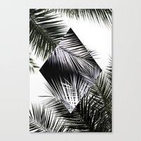 Palm Leaves 3 Geometry Canvas Print
