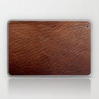 Leather Texture (Dark Brown) Laptop & iPad Skin
