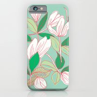 Floating Tulips (mint green) iPhone 6 Slim Case
