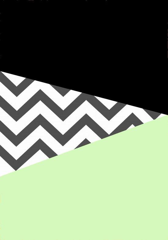 Color Blocked Chevron 3 Art Print