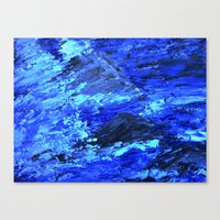 Waves  /abstract Canvas Print