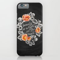 iPhone & iPod Case featuring Beauty is a Light in the Heart by Casey Ligon