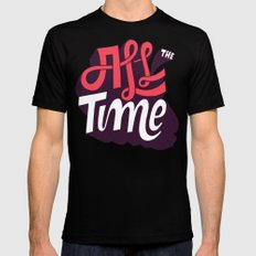 All The Time SMALL Black Mens Fitted Tee
