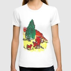 Big moo, wee moo (colored version) Womens Fitted Tee White SMALL