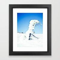 Snow Blown Framed Art Print