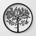 Tree Graphic 2 Wall Clock
