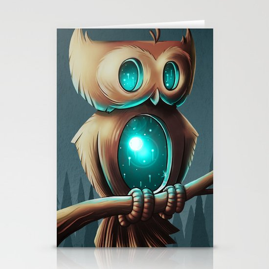 Night Owl Stationery Card