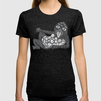 Lollipop Monster 2 Womens Fitted Tee Tri-Black SMALL