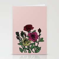 delicate roses Stationery Cards