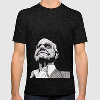 Homeless man5 Mens Fitted Tee Tri-Black SMALL