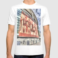 Arsenal FC Emirates Stadium London Mens Fitted Tee White SMALL