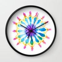 Mermaid Flower Wall Clock