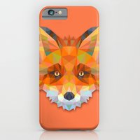 iPhone Cases featuring Geometric Fox by Kingdom of Art