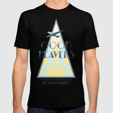 Good Heavens! SMALL Mens Fitted Tee Black