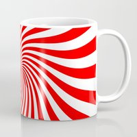 Swirl (Red/White) Mug