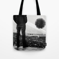 Black Orb Tote Bag