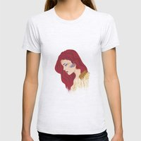 Glam Red Rock Womens Fitted Tee Ash Grey SMALL