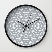 Geo Outline Grey Wall Clock