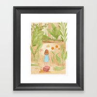 Riding In The Woods Framed Art Print