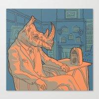 Being A Rhino Like A Sir Canvas Print