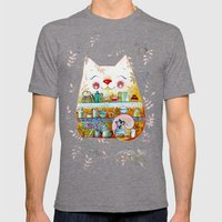 Little Cute Kitchen Cat Mens Fitted Tee Tri-Grey SMALL