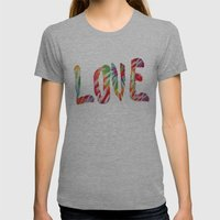 A Fractal Of Love Womens Fitted Tee Athletic Grey SMALL