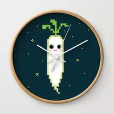 Happy Pixel Daikon Wall Clock