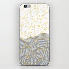 Ab Half and Half Grey iPhone & iPod Skin