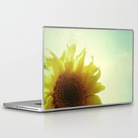 sunflower Laptop & iPad Skins featuring Sunflower by Cassia Beck