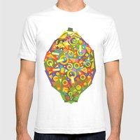 Lemon (Citron) Mens Fitted Tee White SMALL