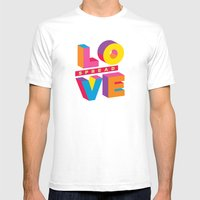 Spread Love Mens Fitted Tee White SMALL