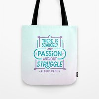 Camus on Passion Tote Bag