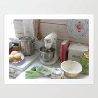 Cooking in Miniature  Art Print