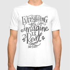 IMAGINE Mens Fitted Tee White SMALL