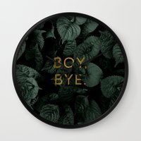 Boy, Bye - Vertical Wall Clock
