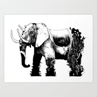 Elephant Machine God Art Print