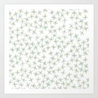 Blue Cherry Blossom Art Print